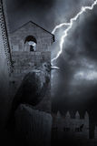 Halloween medieval raven Stock Image