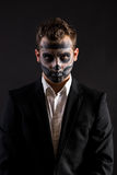 Halloween Men Face Painted Royalty Free Stock Image