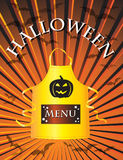 Halloween menu Royalty Free Stock Photo