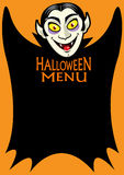 Halloween Menu Royalty Free Stock Photography