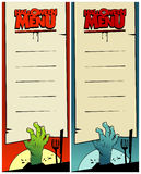 Halloween menu cards set. Royalty Free Stock Images