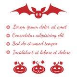 Halloween menu template Royalty Free Stock Photos