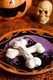 Halloween meringue bones Royalty Free Stock Photo