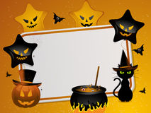 Halloween mesage background Stock Image