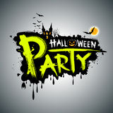 Halloween message design Royalty Free Stock Image