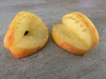 Halloween met appelen stock afbeelding