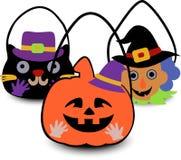Halloween met en sac le 2d illustration libre de droits
