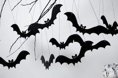 Halloween met knuppels en pompoen Royalty-vrije Stock Foto's