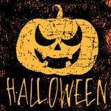 Halloween met pompoen stock illustratie