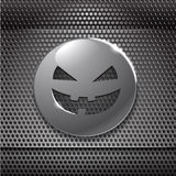 Halloween metal smiling face Royalty Free Stock Photo