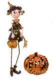 Halloween Metal Witch Royalty Free Stock Photo