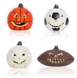 Halloween mette in mostra le zucche Fotografia Stock Libera da Diritti
