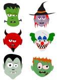 Halloween śmieszne twarze Obraz Stock