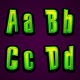 Halloween modern font ABCD Stock Images