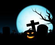 Halloween-Mondnacht Lizenzfreie Stockfotografie