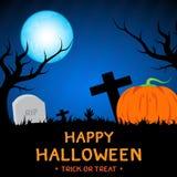 Halloween-Mondnachtdesign Lizenzfreie Stockfotos