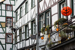 Halloween in Monschau, Germany Royalty Free Stock Image