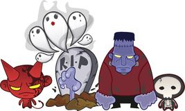 halloween monster Royaltyfri Bild