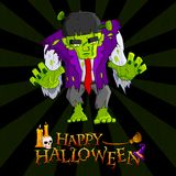 Halloween monster Arkivbild