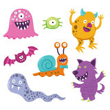 Halloween Monster Animal Characters Royalty Free Stock Photos