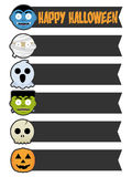 Halloween Monster Banners Stock Photos