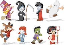 halloween monster characters Stock Images