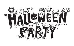Halloween Monster Characters Party Stock Image