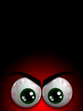 Halloween monster eyes with place for text Stock Photo