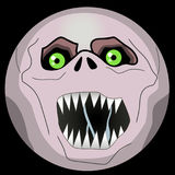 Halloween Monster Faces emoji smiley ghoul. Before you one of the collection of Halloween Monster Faces - emoji smiley ghoul. Emoticon is made in ai Adobe Royalty Free Stock Photos