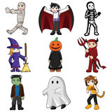 Halloween monster icons Royalty Free Stock Images