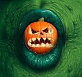Halloween Monster Jack O Lantern Royalty Free Stock Photo