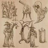 Halloween, Monster, Magie - Vector Sammlung Lizenzfreie Stockfotos