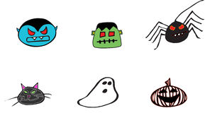 Halloween Monster Pack Royalty Free Stock Photos