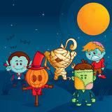 Halloween monster parade. Beware!, the funny monsters ready to attack Royalty Free Stock Image