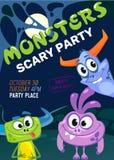 Halloween monster party invitation. Vector illustration vector illustration