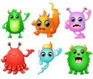 Halloween monster set collection Stock Image