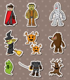 Halloween monster sitckers. Cartoon vector illustration Royalty Free Stock Photos