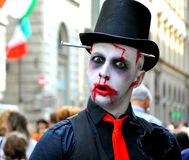 Halloween monster on the streets of Italy Stock Image