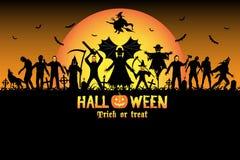 Halloween monster zombie serial killer set Stock Image