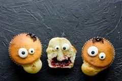 Halloween-monstercakes stock foto