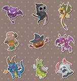 halloween monsteretiketter Arkivbilder