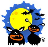 Halloween monsters Stock Images