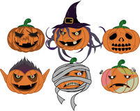 Halloween monsters royalty free illustration