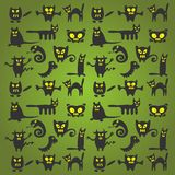 Halloween monsters background Stock Photos