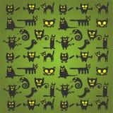 Halloween monsters background Stock Photos