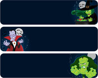 Halloween monsters banners Royalty Free Stock Photography