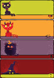 Halloween monsters banners set. Royalty Free Stock Photography