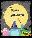 Halloween Monsters Card Royalty Free Stock Photos