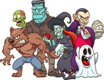 Halloween monsters Stock Images