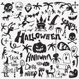 Halloween monsters doodles Royalty Free Stock Photo